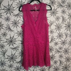 Free People Orchid Heart In Two Lace Dress